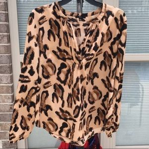 Tops - New leopard blouse!